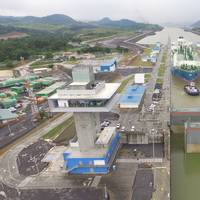 Maran Gas Apollonia transiting the Expanded Panama Canal's Cocoli Locks (Photo: Panama Canal Authority)