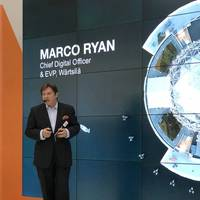 Marco Ryan, Chief Digital Officer, Wärtsilä, discusses the engineering company's digital transformation, as well as its investment in 'an oceanic awakening' and its leadership in the SEA20 project. (Photo: Greg Trauthwein)