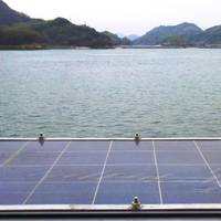 Marine grade solar panel and frame at Teramoto Iron Works, Onomichi, Japan (Photo: EMP)