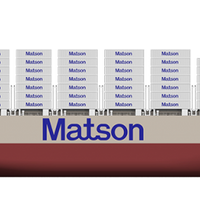 "Matson's newest vessel, the largest combination container / roll-on, roll-off (""con-ro"") ship ever built in the United States. Image Credit: NASSCO"