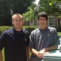 Matt Weklar '15 (left) and Nolan Conway '15