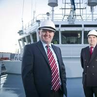 Matthew Gordon (left) and John Bryce onboard Ocean Spey (Photo: Atlantic Offshore Rescue)