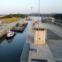 McAlpine Lock and Dam. (USCG Image)