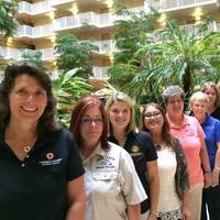 MESC Women on the Water held its 8th annual meeting in Orlando, Fla., June 9-11, 2015. From left to right: Julie Keim,Capt. Ruth Sparks, Amanda Symonds, Amy Beavers, Capt. Ellen Sease, Marie Adams, Cathy Bancroft, Angela Chancy and Dana Gregory