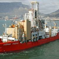 Mining vessel Debmar Pacific departing from Cape Town, outfitted with new Wärtsilä gensets (Photo: Wärtsilä)