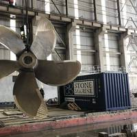 Mobile workshop with repaired propeller (Photo: Stone Marine Shipcare)