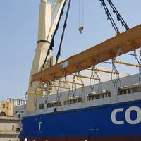 Modulift sent two rigs for on- and off-load in Korea and Thailand respectively. (Photo: Modulift)