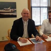 Morgan Fanberg, President, Glosten (left) and Basjan Faber, CEO of C-Job. (Photo: Glosten)