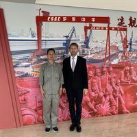 Mr. Danping Lou, Chief Technical Officer, Hudong-Zhonghua Shipbuilding, a part of CSSC Group (left) with Noah Silberschmidt, CEO, Silverstream Technologies (right) (Photo: Silverstream Technologies)