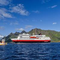 MS Otto Sverdrup offers year-round expedition cruises along the spectacular Norwegian coastline, and is Hurtigruten Expeditions' third battery-hybrid powered ship. Photo: AGURTXANE CONCELLON/Hurtigruten Expeditions
