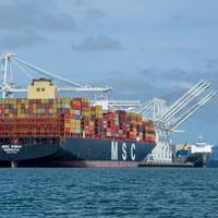 MSC Anna calls the Port of Oaklnd in April 2020 (Photo: Port of Oakland)