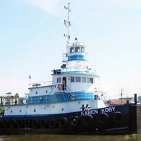 M/V Karen Koby, was fitted with twin ABS-certified S12R-Y2MPTK Mitsubishi engines