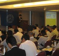 Naoki Saito of the ClassNK's Safety Management Systems Department addressingparticipants on ECDIS training