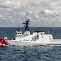 National Security Cutter Stone (WMSL 758) sails in the Gulf of Mexico during builder's sea trials earlier this year. (Photo by Lance Davis / HII)