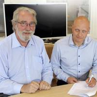 NAVTOR Managing Director Tor A. Svanes, Johan Traung, Managing Director of Nautic Holding AB, and Henrik Bergius, who will lead the new company, NAVTOR NAUTIC AB