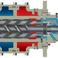 Nearly 100 Allweiler pumps of the SNF series will pump hydraulic oil in a shipborne system capable of lifting up to 48,000 tons for the purpose of decommissioning offshore platforms. (Image: Allweiler GmbH)