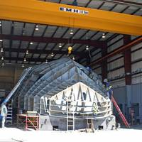 Newbuilding at the Great Lakes Shipyard in Cleveland, OH (photo courtesy of Great Lakes Shipyard)