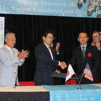 Nippon Foundation and Deepstar signed an MOU in Houston. Photo: Greg Trauthwein