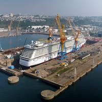 Norwegian Breakaway at Damen Shiprepair Brest (Photo: Damen)