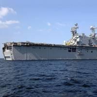 Official U.S. Navy file photo of of the amphibious assault ship USS Saipan (LHA 2)
