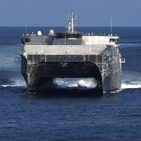 Official U.S. Navy file photo of expeditionary fast transport USNS Fall River (T-EPF 4) underway in the Gulf of Mexico. Courtesy: United States Navy
