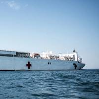 Official U.S. Navy file photo of USNS Comfort (T-AH 20).