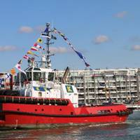 On September 13, 2018, a Damen-built tug for Kotug Smit Towage was named 'Southampton' at a ceremony in the Port of Zeebrugge. (Photo: Kotug Smit Towage)