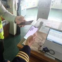 Onboard remittance test. Photo: NYK Group