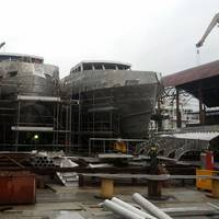 One of 12 48m Monohull UT4000 FSVs under construction at ETP Engerharia