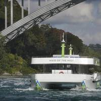 One of Maid of the Mist's two new all-electric tour ferry Nikola Tesla (Photo: New York State Parks)