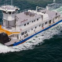 One of Marine News' 2017 'Great Workboats' winners, an inland river towboat built by Eastern Shipbuilding Group for IWL River (Image: Eastern Shipbuilding Group)
