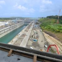 One of the more than 34,000 employees who have been working on the huge project since 2007 (Photo courtesy of the Panama Canal Authority)