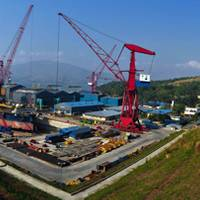 One of three shipyards operated by Keppel Philippines Marine Inc, Subic Shipyard, provides repair, conversion and building services for ship owners and oil rig operators. Photo courtesy Keppel Corp.