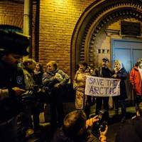 Outside Russian detention building: Photo credit Greenpeace