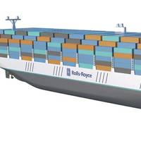 Paperless: Artist's impressions of future Rolls-Royce vessel (Illustration: courtesy Rolls-Royce Marine)