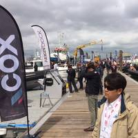 Perhaps the busiest part of the Seawork event involved the impressive display of workboats - all available to board and trial - alongside this waterfront venue. Image: Joseph Keefe