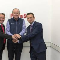 Pictured at MAN Diesel & Turbo's Headquarter in Augsburg (from left): Stefan Eefting - Senior Vice President and Head of MAN PrimeServ Augsburg; Peter Keller - Executive Vice President of TOTE; Per Rud - Senior Vice President and Head of After Sales - Marine & Power Plants.