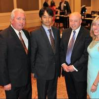 Pictured left to right: Ed McCain - Manager, Client Relations, ClassNK America; Toru Urushihara, Manager - ClassNK; Tom Allegretti - President & CEO, AWO; Jennifer Carpenter - Executive Vice President & COO, AWO; John Kim - General Manager, ClassNK (Photo: American Waterways Operators)