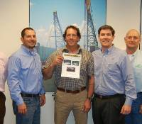 Pictured left to right: Mauricio Garrido, VP Salvage; Stephen Loeb, CFO; Tommy Gibilterra, VP Offshore Construction-Pipeline; Sean Coughlin; Beau Bisso, President/COO; Glenn Posik, Project Manager and Mark Diamond, Jr., Project