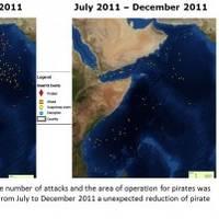 Piracy development 2011