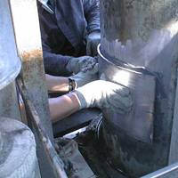 Plate bonding repair on equipment