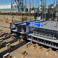 P&O Cruises' New Ship's Keel: Photo credit Fincantieri: