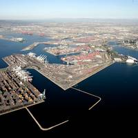 Port of Long Beach from the Air: Photo credit Port of Long Beach
