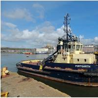 Portgarth enters the dry dock at Milford Docks (Photo: Haven Marine Services)