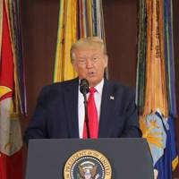President Donald J. Trump speaks during a briefing at U.S. Southern Command headquarters in Doral, Fla. (Photo by Michael C. Dougherty, U.S. Southern Command Public Affairs)