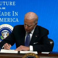 "President Joe Biden signs the Strengthening ""Buy American"" Provisions, Ensuring Future of America is Made in America by All of America's Workers executive order (Photo: The White House)"