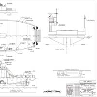 Profile drawing for sister ships Sunrise and Southside delivered in 2002 and 2009 respectively (Image: Blount Boats)