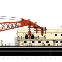 Profile of USACOE Crane Barge to be built by Conrad at its Morgan City Shipyard. (Image: Conrad)
