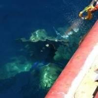 Propeller breaks the surface: Image courtesy of KiwiRail