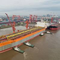 Prosperity FPSO Hull in China - Credit: Hess